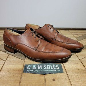 Cole Haan Grand OS  Lenox Hill Split Toe Brown Leather Oxfords